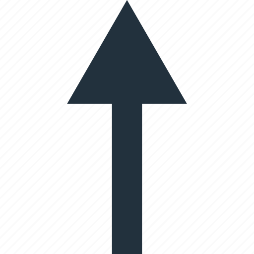 arrow, direction, exit, out, rise, top, up icon