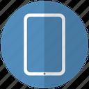blue, tab, tecnology icon