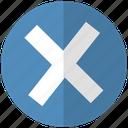 blue, close, vez icon