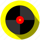 cd, disco, dj, music, yellow icon