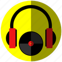 dj2, job, music, yellow icon