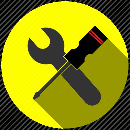 blue, job, mecanico, tool icon