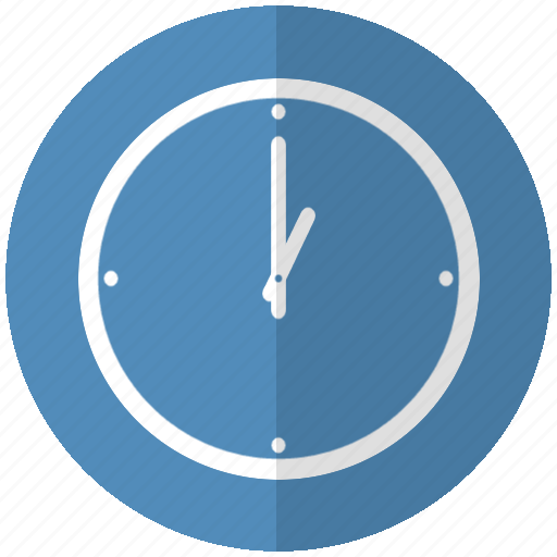 blue, clock, hour, relogio icon