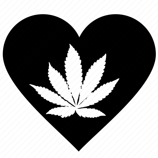 canabis, drug, heart, like, romantic icon