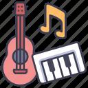 band, guitar, instrument, music, sound