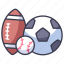 activity, american, baseball, football, game, soccer, sport icon