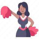 cheer, cheerleader, competition, female, girl, school, sport icon