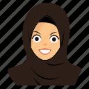 angry, girl, hijab icon