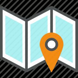 cartography, gps, location, map, mark, navigation, orientation, pin icon