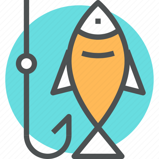 catch, fish, fishing, food, hook, leisure, recreation icon