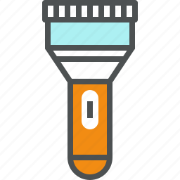 flash, flashlight, lamp, light, pocket, tool, torch icon