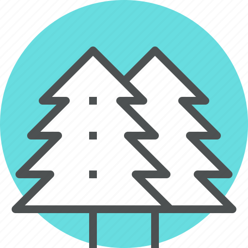 forest, nature, park, pine, tree, winter, wood icon