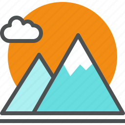 climbing, hill, mountain, nature, outdoor, peak, rock, sunrise icon