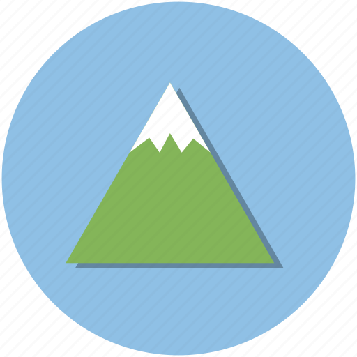 adventure, blue, circle, climbing, hiking, mountain, outdoors icon