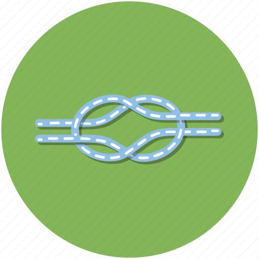 adventure, circle, climbing, green, hiking, outdoors, rope icon