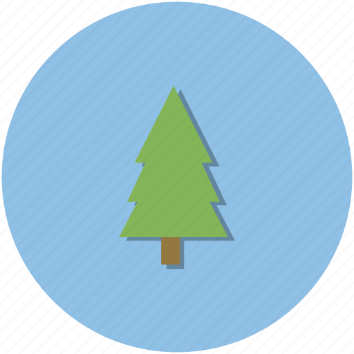 adventure, circle, green, hiking, nature, outdoors, tree icon