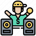boy, dj, gangster, hip, hop, rapper, speaker icon