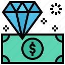 diamond, dollar, jewellery, money icon