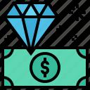 money, diamond, dollar, jewellery icon