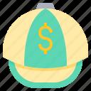 cap, dollar, hat, hiphop icon