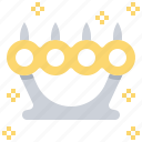 brass, danger, knuckle, punch, weapon icon