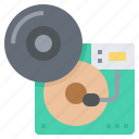 audio, music, player, record, sound icon