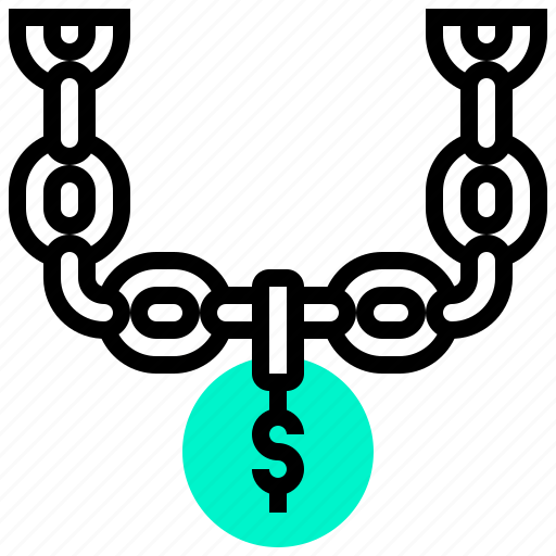bling, chain, dollars, money icon