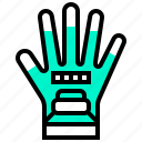 finger, gloves, hand, protection icon
