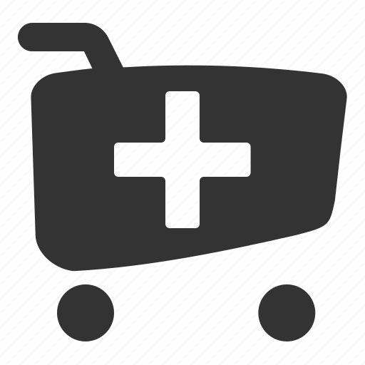 cart, plus, shopping cart add icon