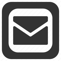 email, envelope, mail, square icon