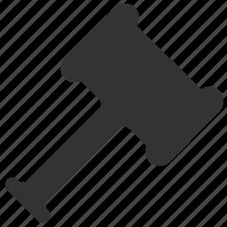 gavel, hammer, judge, legal icon