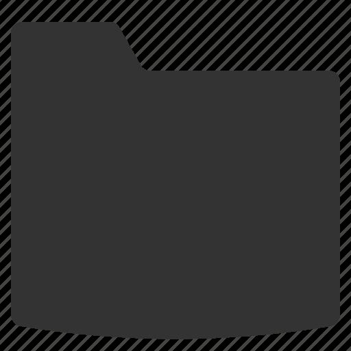 blank, closed, dark, directory, folder, single folder icon