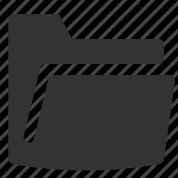 dark, directory, empty, folder, open icon