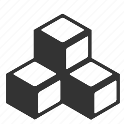 abstract, blocks, cubes, stacked icon