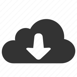 arrow, cloud, computing, download, forecast icon