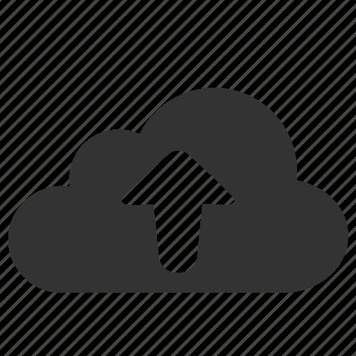 arrow, cloud, computing, storage, upload icon