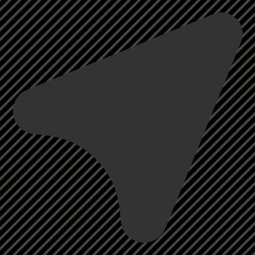 arrow, direction, gps, location, right icon