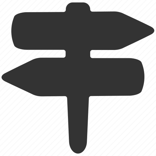 arrows, direction, map, navigation, signs icon