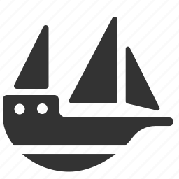 boat, cruise, pirate ship, sailboat, sea, ship, vessel icon