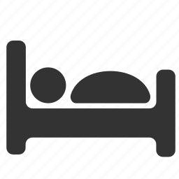 bed, bedroom, furniture, interior, sleep, sleeping icon