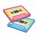 cassette, film, music, recording, retro, tape recorder icon