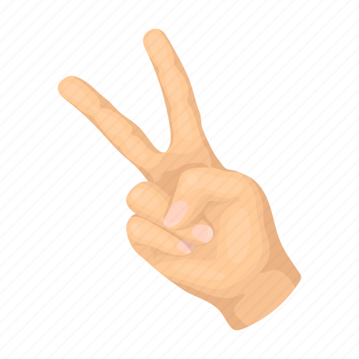 finger, freedom, gesture, sign icon