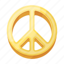 emblem, freedom, hippie, sign icon