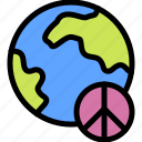 peace, world icon