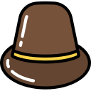 bowler, free, hat, hipster, on trend icon