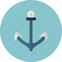anchor, boat, sea, ship, shipping icon