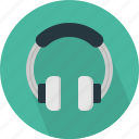 accessories, audio, headphones, music, play, sound icon