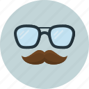 fashion, glasses, hipster, man, men, mustache, sunglasses icon