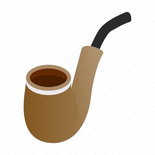 Isometric, old, pipe, retro, search, smoke, vintage icon - Download on Iconfinder