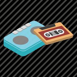 boombox, isometric, music, player, retro, stereo, tape icon